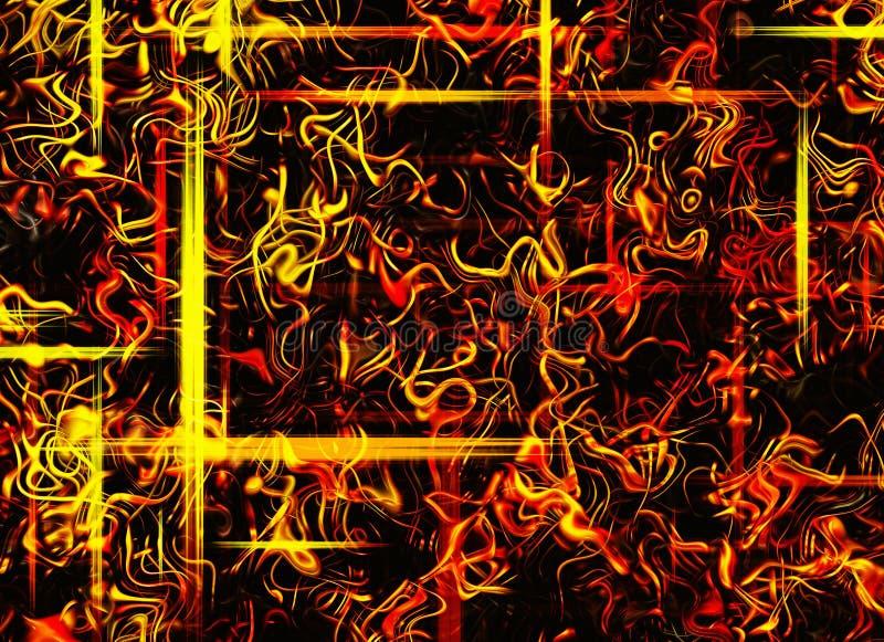 Αφηρημένα ονειροπόλα υπόβαθρα ακτίνων πυρκαγιάς διανυσματική απεικόνιση