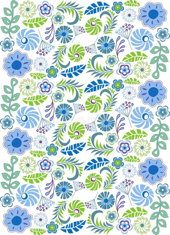 αφηρημένα λουλούδια ελεύθερη απεικόνιση δικαιώματος