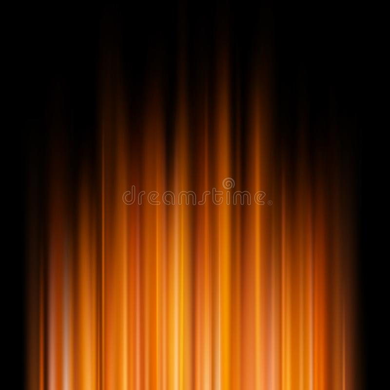 Αφηρημένα πορτοκαλιά φω'τα σε ένα σκοτεινό υπόβαθρο 10 eps απεικόνιση αποθεμάτων