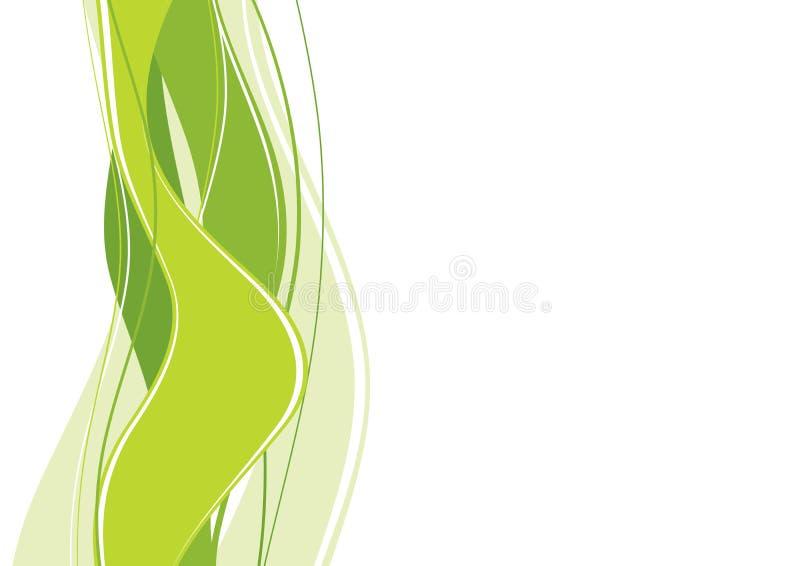 αφηρημένα πράσινα κύματα ελεύθερη απεικόνιση δικαιώματος