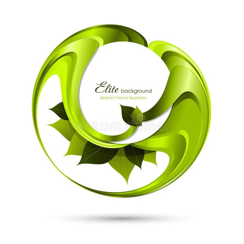 αφηρημένα πράσινα φύλλα ανα&si απεικόνιση αποθεμάτων