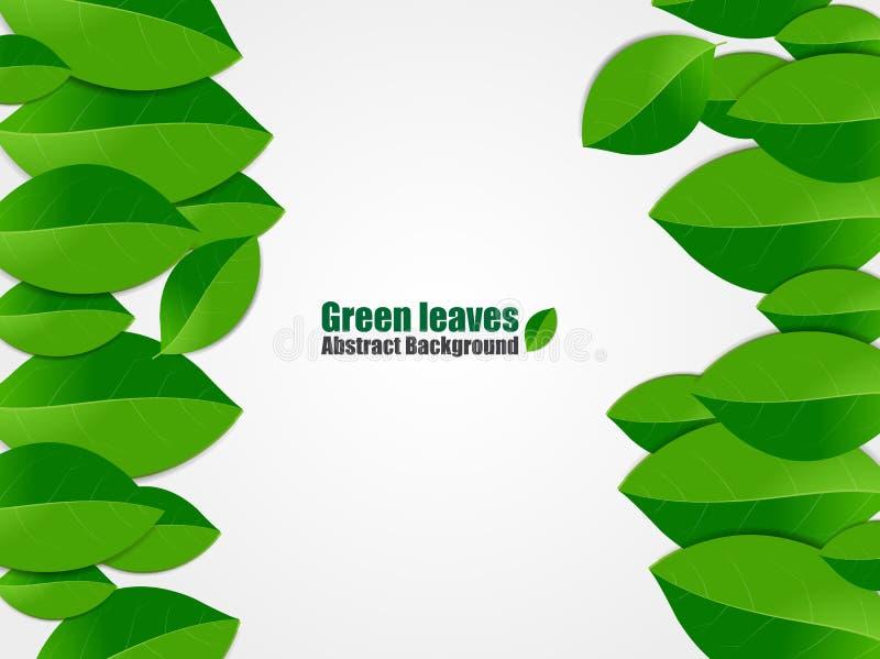 αφηρημένα πράσινα φύλλα ανα&si επίσης corel σύρετε το διάνυσμα απεικόνισης διανυσματική απεικόνιση