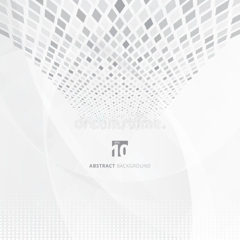 Αφηρημένα στοιχεία τεχνολογίας που ταξινομούν το έξυπνο σύστημα Μεγάλα στοιχεία Γκρίζος τετράγωνος απεικόνιση αποθεμάτων