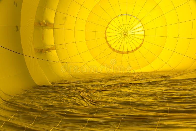 Αφηρημένα σχέδια μέσα σε ένα μπαλόνι ζεστού αέρα στοκ φωτογραφία