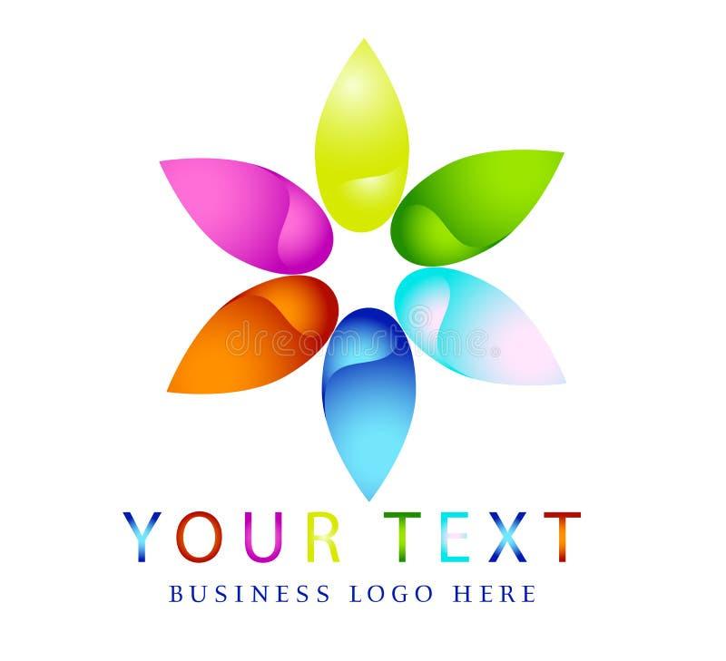 Αφηρημένα σύγχρονα λογότυπα κύκλων, ουράνιο τόξο, λουλούδι, στοιχείο, floral, διάνυσμα μορφής λουλουδιών και διανυσματικό σχέδιο  ελεύθερη απεικόνιση δικαιώματος