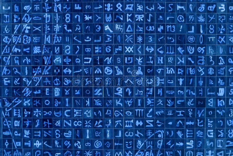 αφηρημένα σύμβολα ανασκόπη& Στοκ Εικόνες