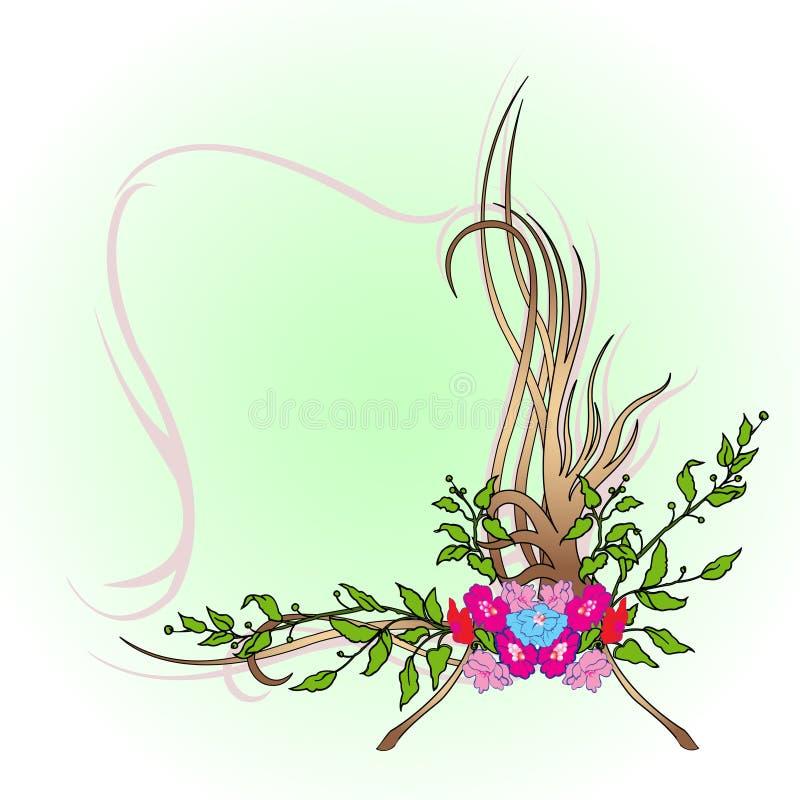 αφηρημένα σύνορα floral απεικόνιση αποθεμάτων