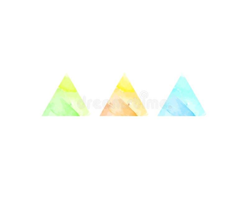 Αφηρημένα τρίγωνα watercolor στοκ φωτογραφίες με δικαίωμα ελεύθερης χρήσης