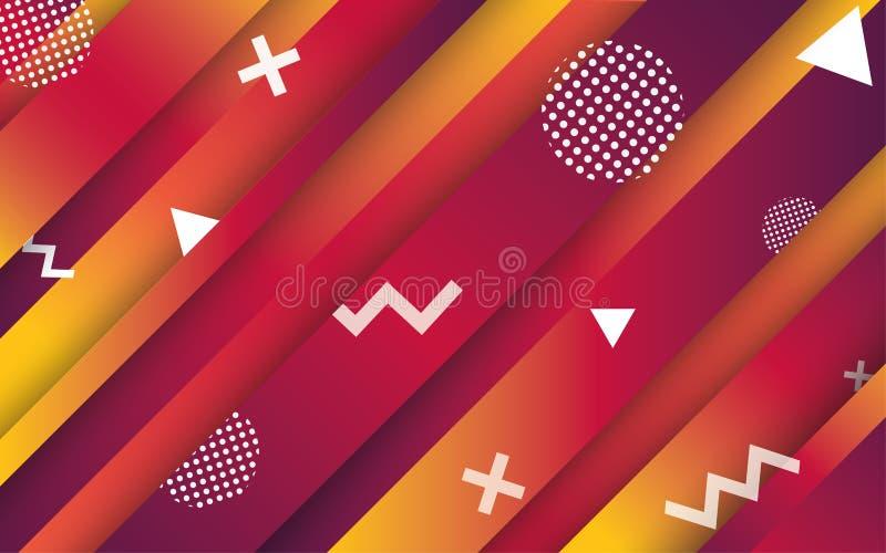 Αφηρημένα υπόβαθρα Δημιουργική αφηρημένη γεωμετρική ταπετσαρία Χρώματα αντίθεσης Διανυσματικό σχεδιάγραμμα σχεδίου για τις παρουσ ελεύθερη απεικόνιση δικαιώματος