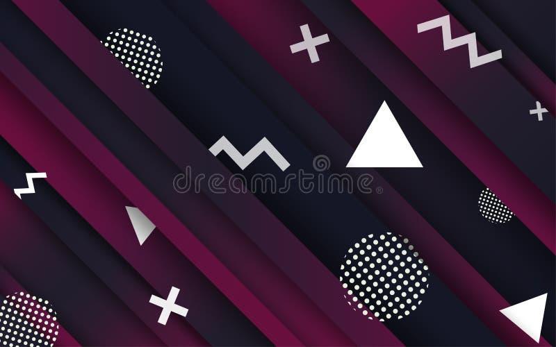 Αφηρημένα υπόβαθρα Δημιουργική αφηρημένη γεωμετρική ταπετσαρία Χρώματα αντίθεσης Διανυσματικό σχεδιάγραμμα σχεδίου για τις παρουσ απεικόνιση αποθεμάτων