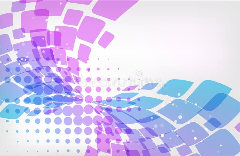 Αφηρημένα υπόβαθρο, πορφύρα και μπλε στο λευκό απεικόνιση αποθεμάτων