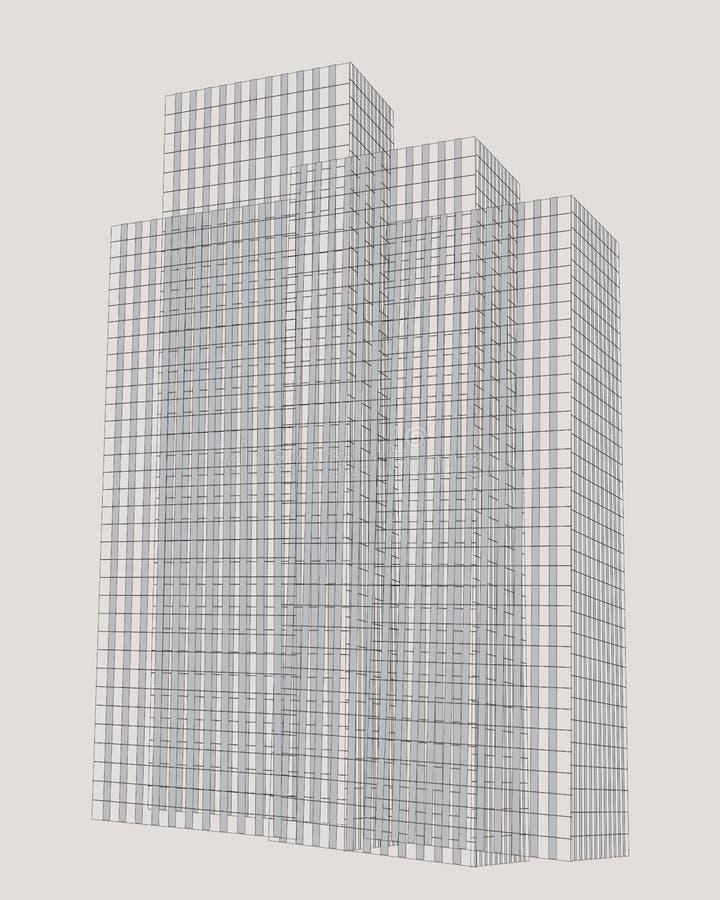 Αφηρημένα υψηλά κτήρια διανυσματική απεικόνιση