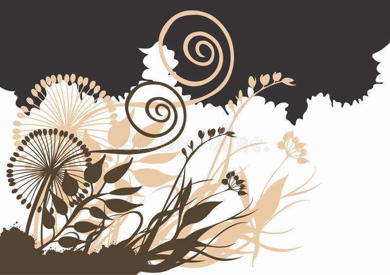 αφηρημένα φυτά διανυσματική απεικόνιση