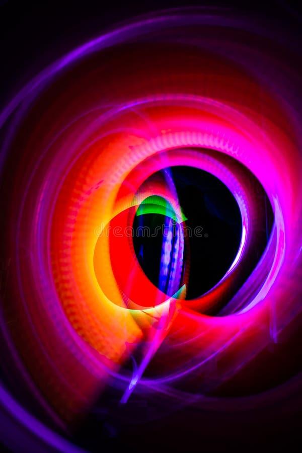 Αφηρημένα φω'τα στους κύκλους και ovals των διαφορετικών μεγεθών και των χρωμάτων ελεύθερη απεικόνιση δικαιώματος