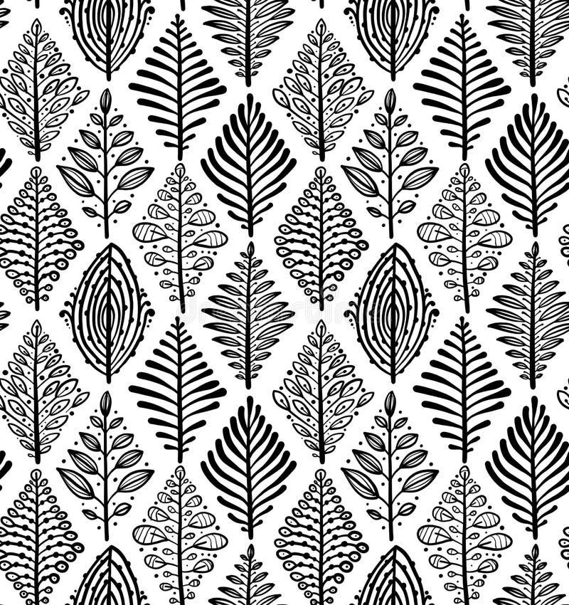 αφηρημένα φύλλα ανασκόπηση&s Μορφή ρόμβων Άνευ ραφής πρότυπο για το σχέδιό σας απεικόνιση αποθεμάτων