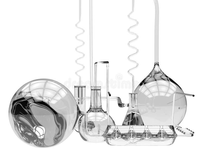 Αφηρημένα χημικά γυαλικά διανυσματική απεικόνιση
