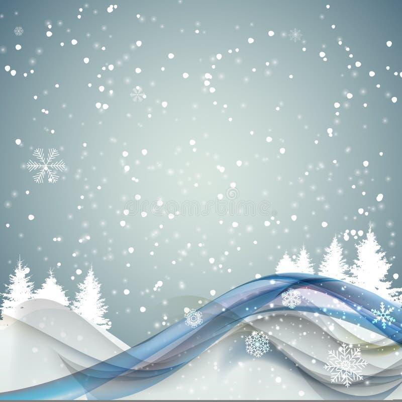 Αφηρημένα Χριστούγεννα και νέο υπόβαθρο κυμάτων έτους με τα φω'τα, Tre ελεύθερη απεικόνιση δικαιώματος