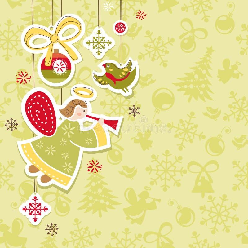 αφηρημένα Χριστούγεννα κα&r διανυσματική απεικόνιση