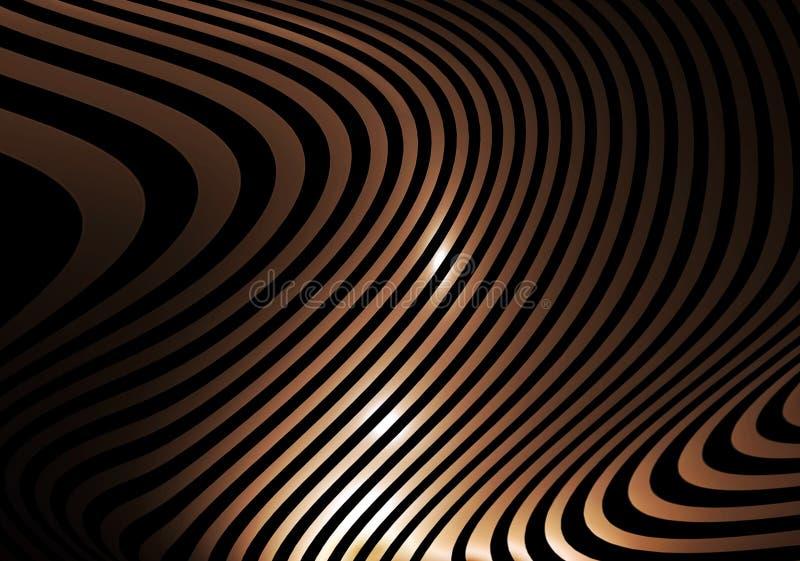 αφηρημένα χρυσά ριγωτά κύματα απεικόνιση αποθεμάτων