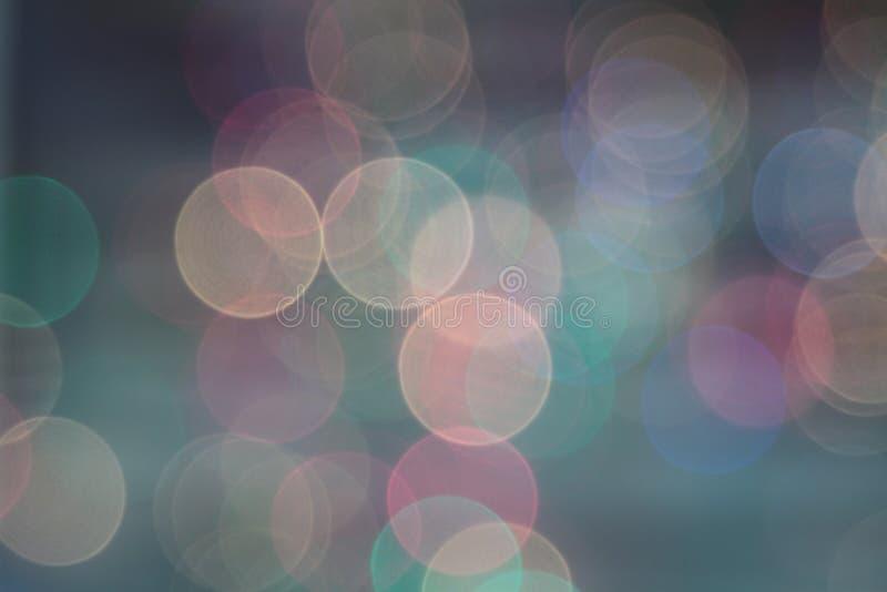 Αφηρημένα χλωμά θολωμένα κυκλικά φω'τα bokeh στοκ εικόνες