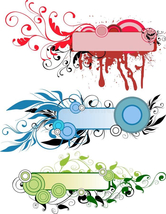 αφηρημένα floral πλαίσια ελεύθερη απεικόνιση δικαιώματος