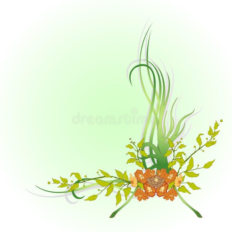 Αφηρημένα floral σύνορα διανυσματική απεικόνιση