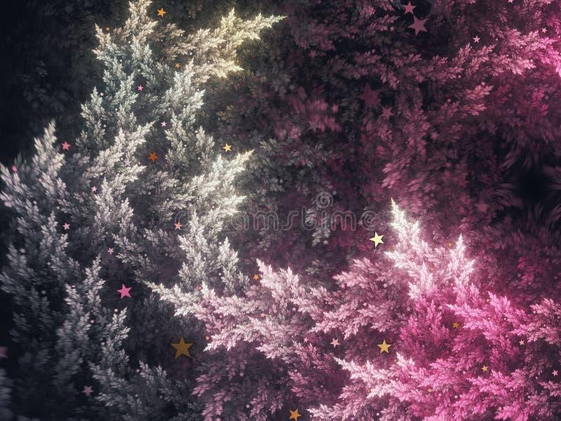 Αφηρημένα fractal δέντρα διανυσματική απεικόνιση