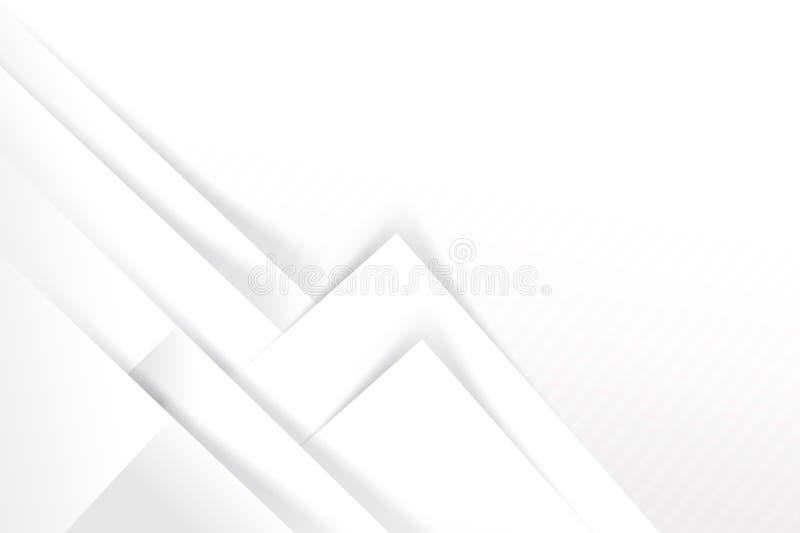 Αφηρημένες άσπρες και γκρίζες επικαλύψεις γεωμετρίας υποβάθρου βασικές με απεικόνιση αποθεμάτων