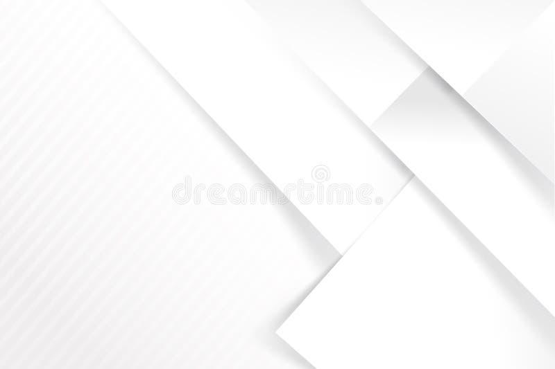 Αφηρημένες άσπρες και γκρίζες επικαλύψεις γεωμετρίας υποβάθρου βασικές με διανυσματική απεικόνιση