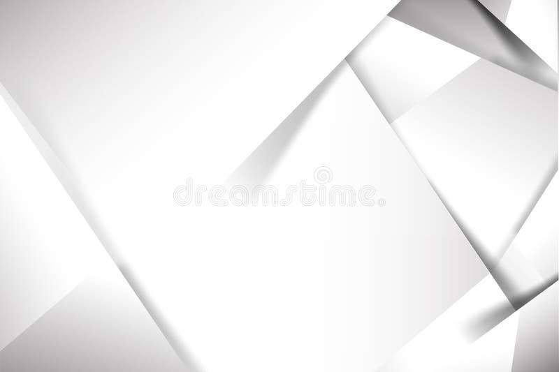Αφηρημένες άσπρες και γκρίζες επικαλύψεις γεωμετρίας υποβάθρου βασικές απεικόνιση αποθεμάτων