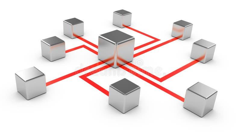 Αφηρημένες επικοινωνίες διανυσματική απεικόνιση