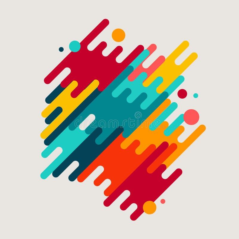 Αφηρημένες γεωμετρικές μορφές κινήσεων απεικόνιση αποθεμάτων