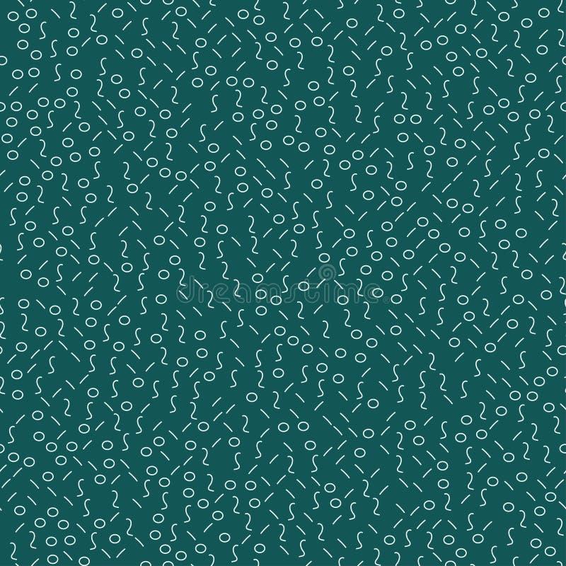 Αφηρημένες γεωμετρικές μορφές της Μέμφιδας άνευ ραφής απεικόνιση αποθεμάτων