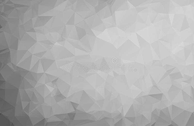 Αφηρημένες γκρίζες μορφές τριγώνων υποβάθρου χαμηλές πολυ κατασκευασμένες στο τυχαίο σχέδιο σχεδίων, διανυσματική απεικόνιση σχεδ ελεύθερη απεικόνιση δικαιώματος