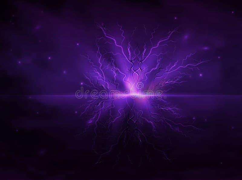 Αφηρημένες γραμμές υπό μορφή φουτουριστικής τεχνολογίας αστραπής, άσχημος καιρός, θύελλα, whirlwind, σε ένα ρεαλιστικό ύφος φουτο απεικόνιση αποθεμάτων