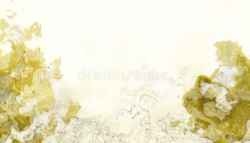 Αφηρημένες εικόνες από τα όμορφα κίτρινα υδρόχρωμα σταγονίδια που παρουσιάζονται με εξωτικό και συναρπαστικό τρόπο σε κίτρινο χρώ ελεύθερη απεικόνιση δικαιώματος