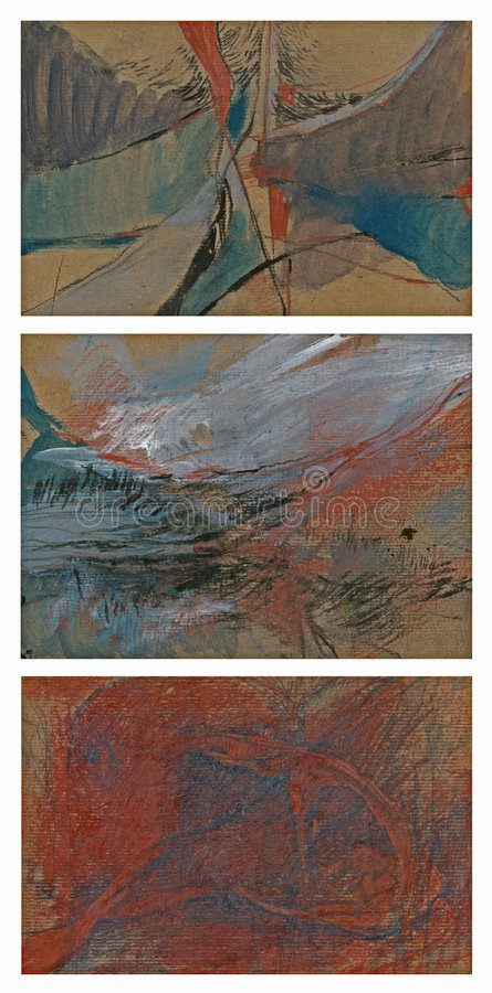 αφηρημένες εικόνες τρία απεικόνιση αποθεμάτων
