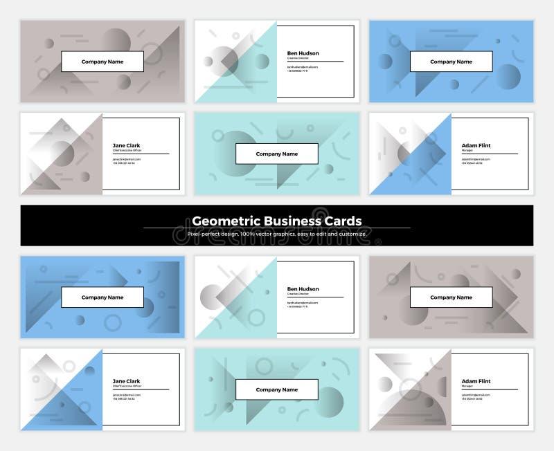 Αφηρημένες επαγγελματικές κάρτες 002 γεωμετρίας ελεύθερη απεικόνιση δικαιώματος