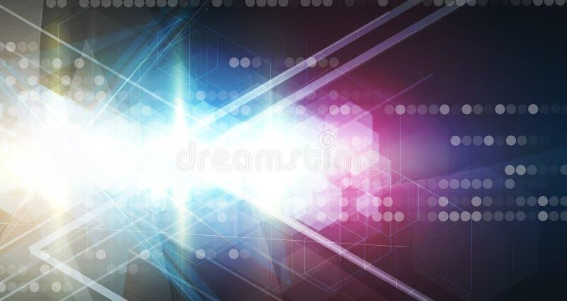 Αφηρημένες επιχείρηση υποβάθρου τεχνολογίας & κατεύθυνση ανάπτυξης διανυσματική απεικόνιση