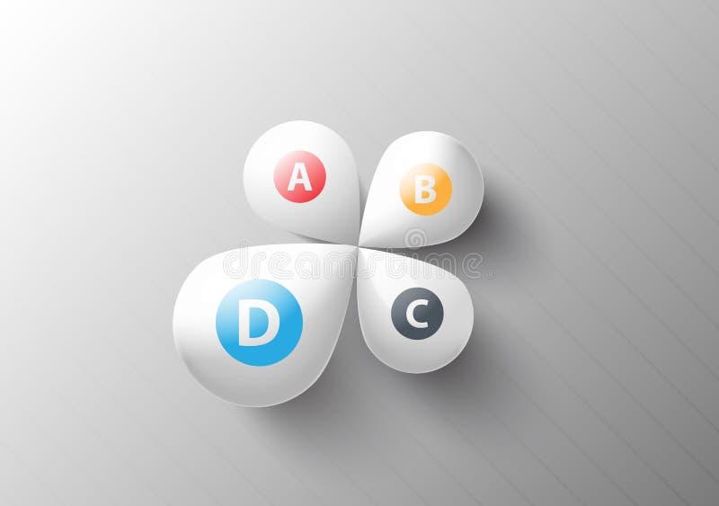 Αφηρημένες επιλογές στοιχείων πετάλων διανυσματική απεικόνιση