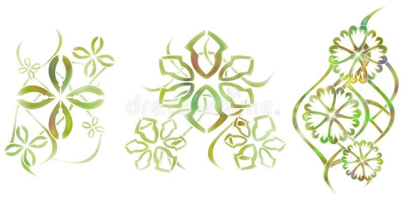 Αφηρημένες δερματοστιξίες με τα λουλούδια διανυσματική απεικόνιση