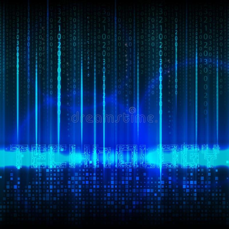 Αφηρημένες θέμα τεχνολογίας και σύνθεση των αριθμών ελεύθερη απεικόνιση δικαιώματος