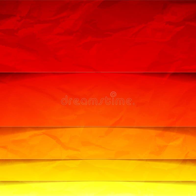Αφηρημένες κίτρινες, πορτοκαλιές και κόκκινες μορφές ορθογωνίων ελεύθερη απεικόνιση δικαιώματος