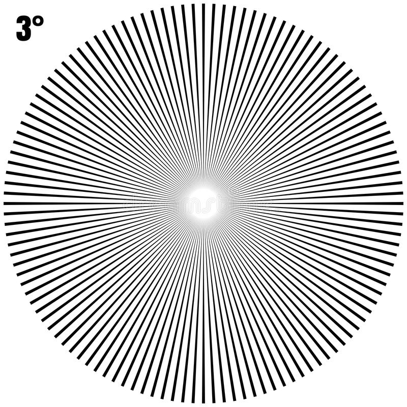 Αφηρημένες κυκλικές γεωμετρικές ακτίνες έκρηξης στο λευκό EPS 10 διάνυσμα απεικόνιση αποθεμάτων