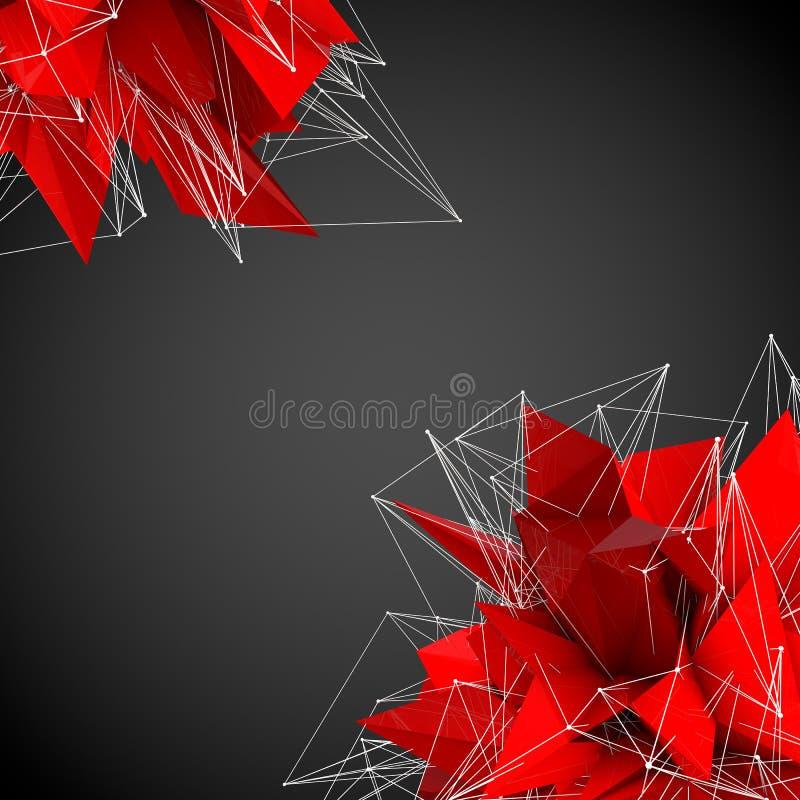 Αφηρημένες κόκκινες σύγχρονες μορφές ελεύθερη απεικόνιση δικαιώματος