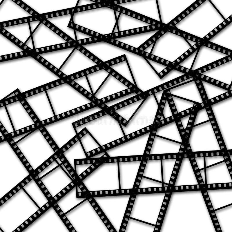 Αφηρημένες λουρίδες ταινιών στο άσπρο υπόβαθρο στοκ εικόνες