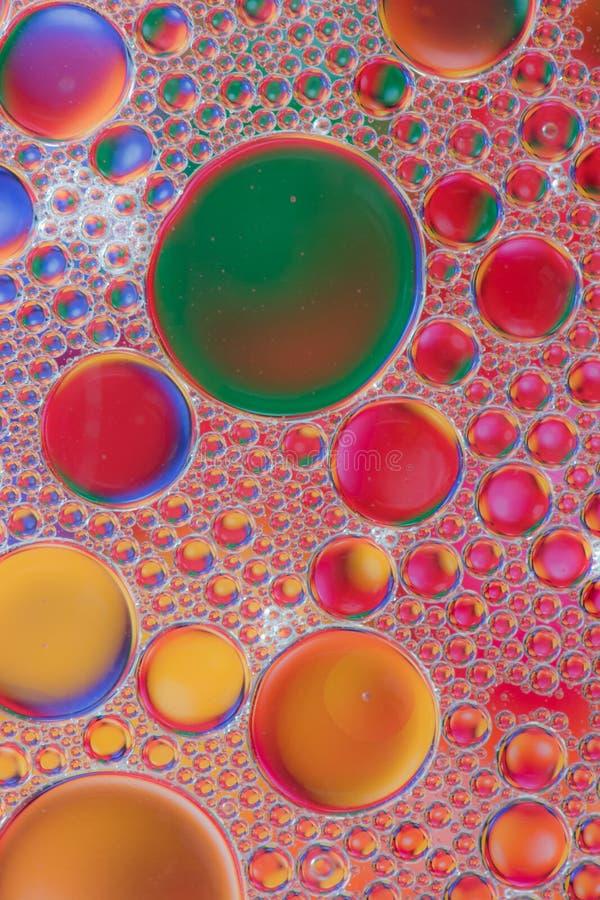 Αφηρημένες μακρο φυσαλίδες πετρελαίου στοκ εικόνες