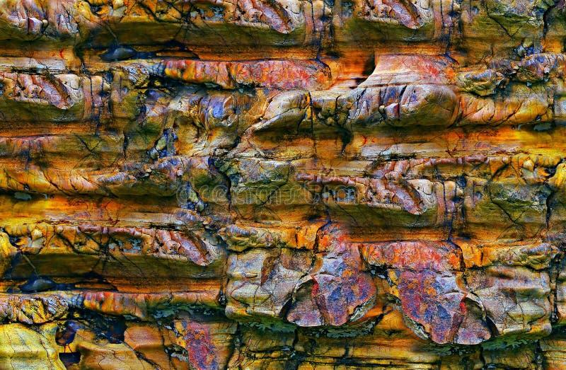 Αφηρημένες μορφές και συστάσεις πετρών στοκ φωτογραφία