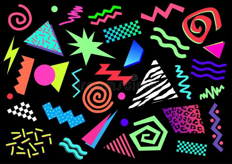 αφηρημένες μορφές της δεκαετίας του '80 διανυσματική απεικόνιση