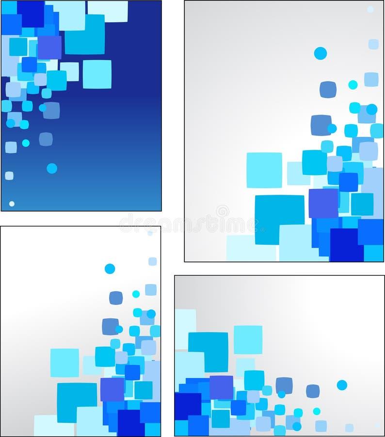 Αφηρημένες μπλε διανυσματικές ανασκοπήσεις απεικόνιση αποθεμάτων